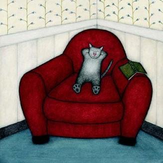 IMAGE DU JOUR :  Un livre et un chat, une cohabitation parfoishéroïque…