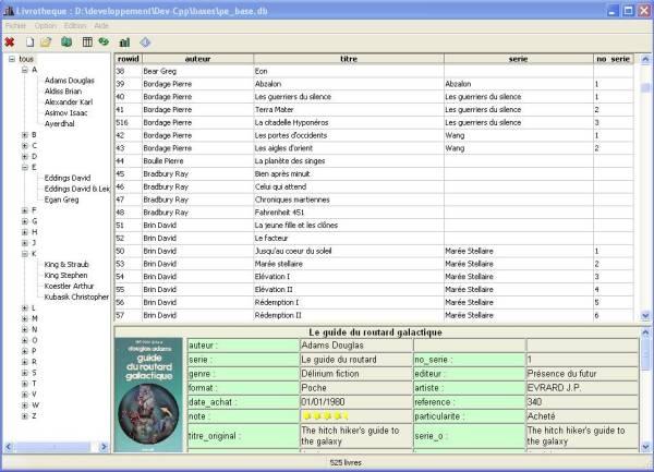 Base de données LIVROTHEQUE