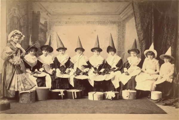 Women in Witch Costumes, circa 1800s (4)