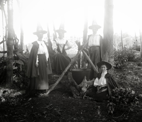 Women in Witch Costumes, circa 1800s (5)