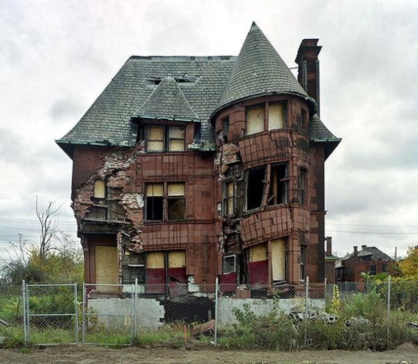 Maison en ruine à Détroit...