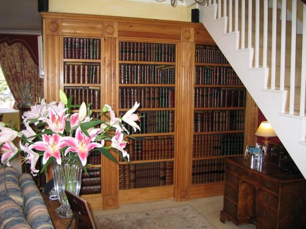 Livres et decoration petits objets de compagnie for Decoration fausse porte