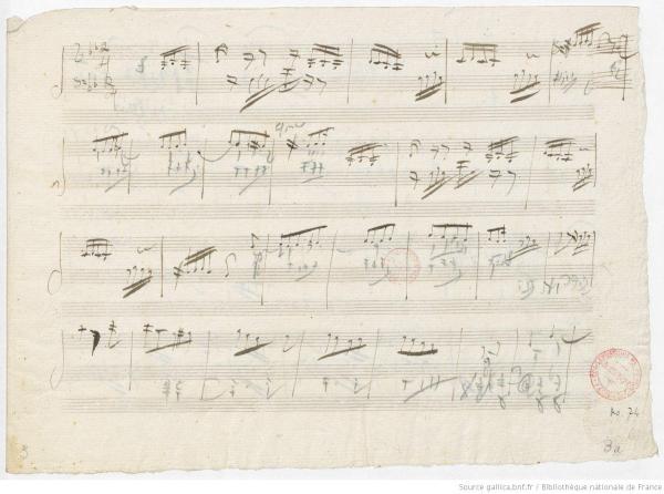Manuscrit de Beethoven