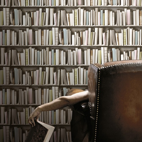 papier-peint-bibliotheque-vintage