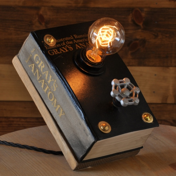 25_Grays_Anatomy__Book_Light__Book_lamp__Light__Lamp__Steampunk_Lamp