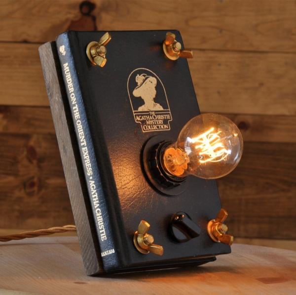 27_Murder_On_The_Orient_Express__Book_Light__Book_Lamp__Steampunk_Lamp__Desk_Lamp