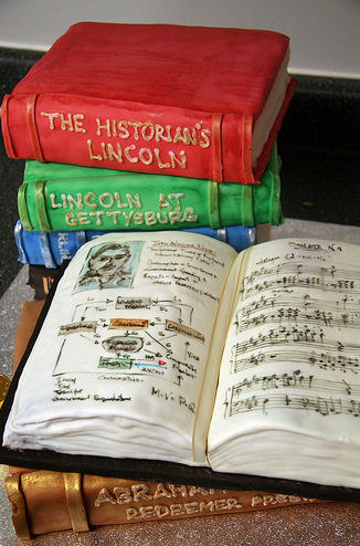 50th-anniversary-book-cake