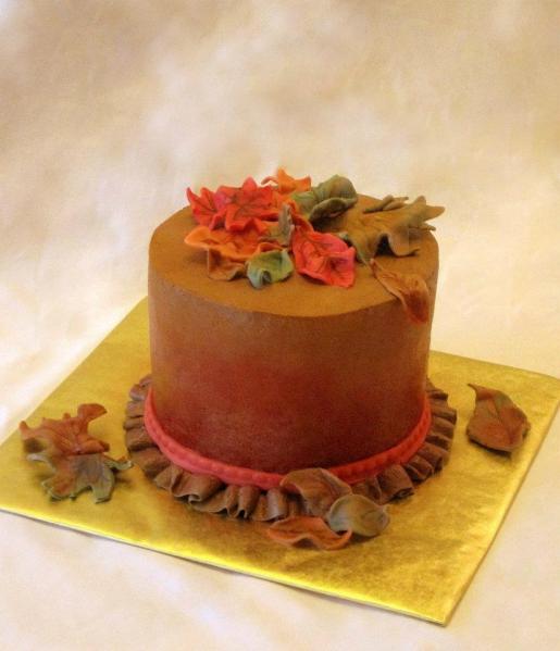 Fall+Leaf+Cake