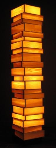 FL_Books-staan lamp in hout fineer 1 -klein