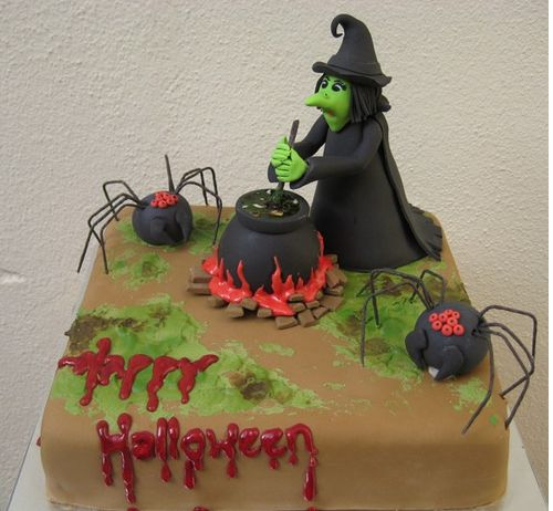 Square+witch+halloween+cake+image