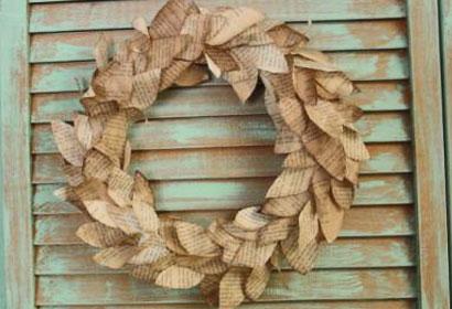 book-wreath
