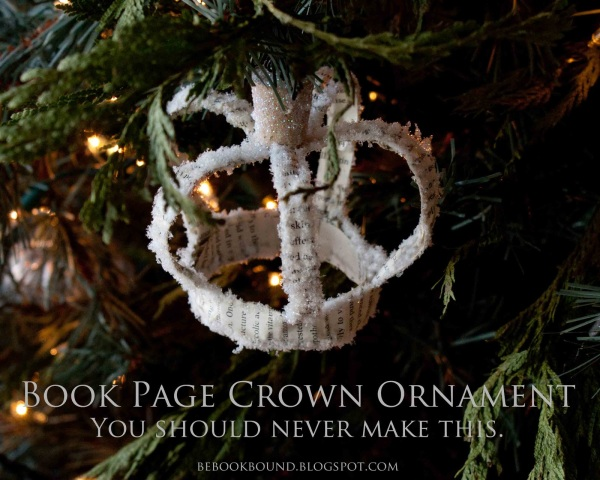 Book+Page+Crown+Ornament