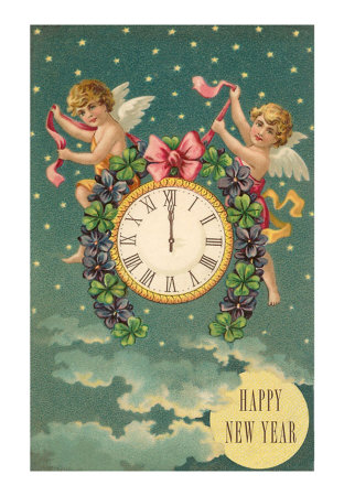 hn-00090-d%7EHappy-New-Year-Victorian-Angels-with-Clock-Posters