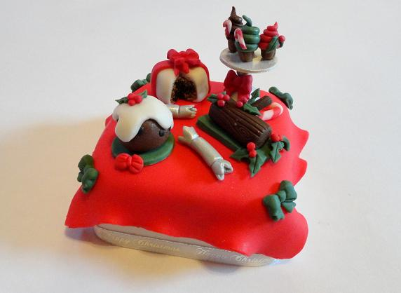 Miniature+Dessert+Table+Christmas+Cake