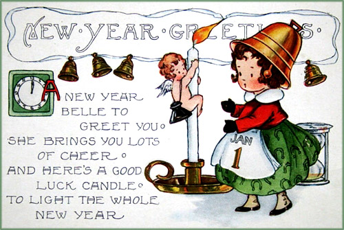 new-years-cards-little-girl-with-bell-hat