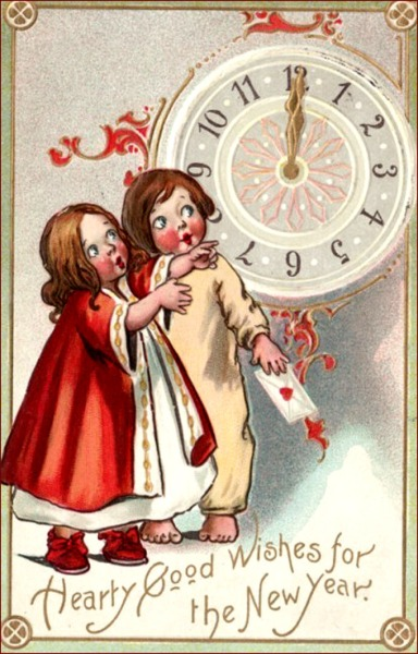 new-years-cards-two-children-looking-at-clock