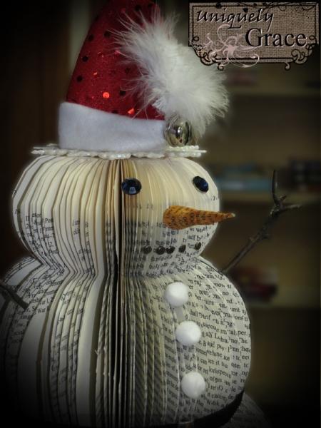 Santa+12+inch+book+page+snowman+side+view+Helmar+L+Grace+Lauer