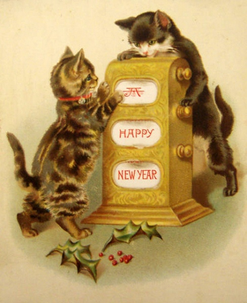 Vintage-New-Year-Postcard-Cat-3