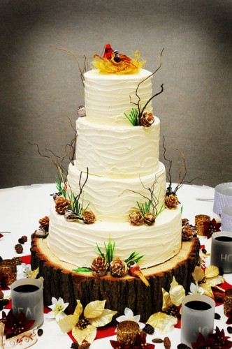 Winter-Wedding-Cakes-Pine-Cones-332x500