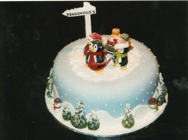 Winter Wonderland Christmas Cake Design