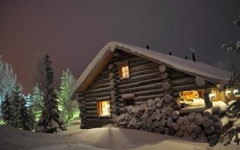 Le chalet, la neige....