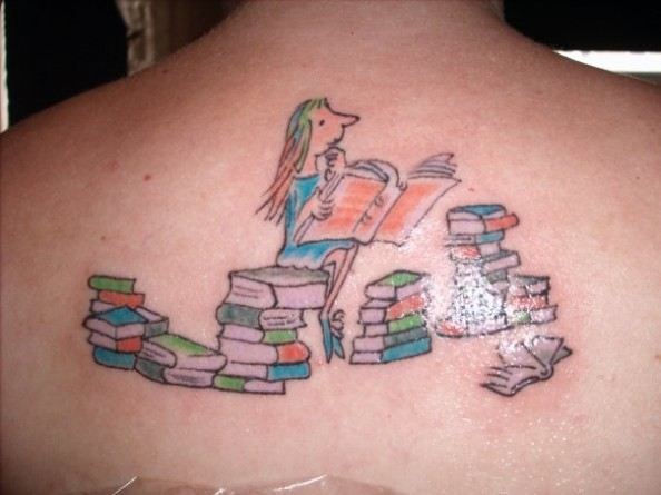 A-tattoo-of-Matilda-from-the-book-by-Roald-Dahl-illustrated-by-Quentin-Blake-594x445
