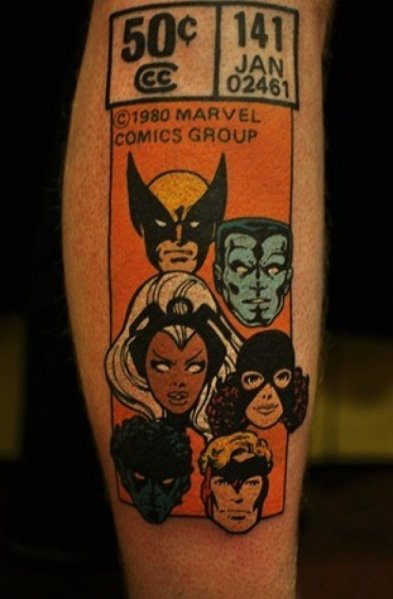 df884358f2a332210c1905ed8a659c39-retro-x-men-comic-book-tattoo