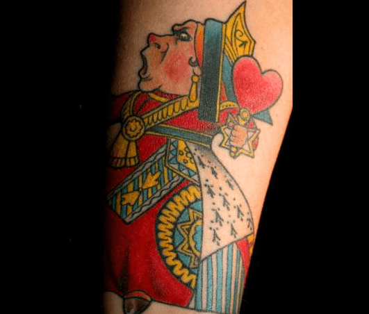 queen-of-hearts-tattoo-playing-card-design-alice-in-wonderland-off-with-their-heads-psychology-meaning-of-body-art-ink
