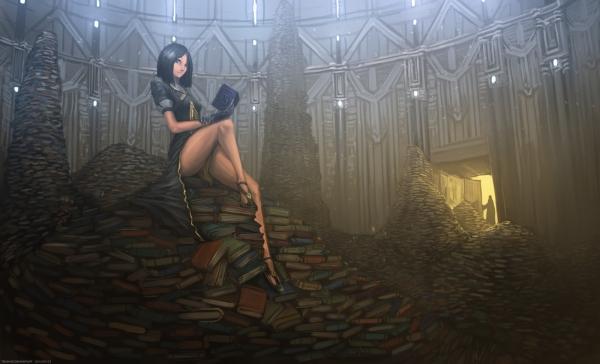 hidden_library_book_girl_shadow_light_woman_hd-wallpaper-1154405