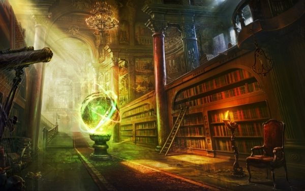 library fantasy art books artwork 4000x2500 wallpaper_www.wall321.com_39