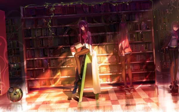 makise_kurisu_books_headphones_library_robot_hd-wallpaper-907385