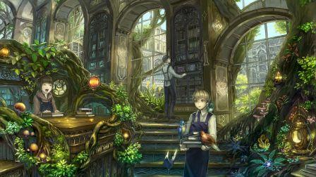 nature_library_boys_books_girls_plants_cute_hd-wallpaper-1642003