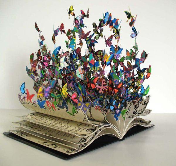 book-art-butterfly