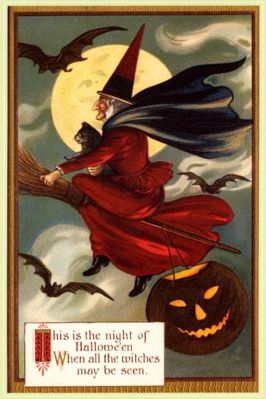 CARTES POSTALES ANCIENNES : HALLOWEEN…