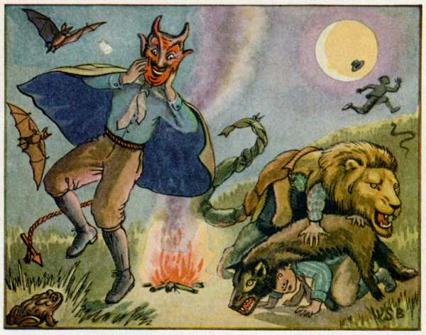 UNKNOWN - CIRCA 1910: This halloween illustration by Wilfred Bronson is printed around 1910 by an unknown printer. (Photo Reproduction by Transcendental Graphics/Getty Images) *** Local Caption ***
