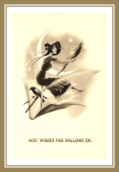 Halloween-with-sweet-girl-witch-on-broom-moon