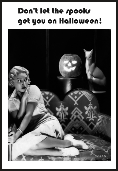 spooked-woman-pumpkin-head-cat