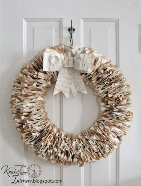 Book+Page+Wreath+by+Knick+of+Time