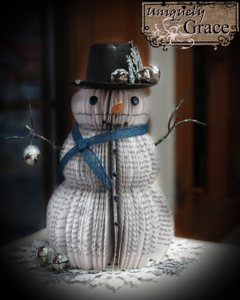 Jingle+Bell+Book+page+snowmen+Blue+and+silver+Helmar+L+Grace+Lauer