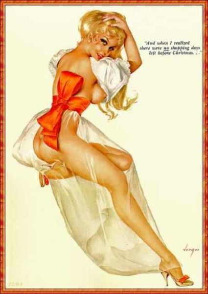 Alberto-Vargas-Christmas-Pin-Up-Girl