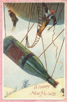 nye-vintage-postcard-clown-apes