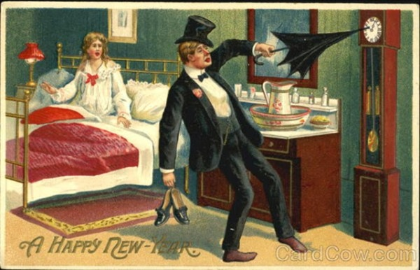 Strange+and+Creepy+New+Year's+Postcards+from+ca.+1900s-1910s+(18)