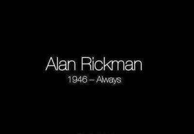 ALAN RICKMAN…