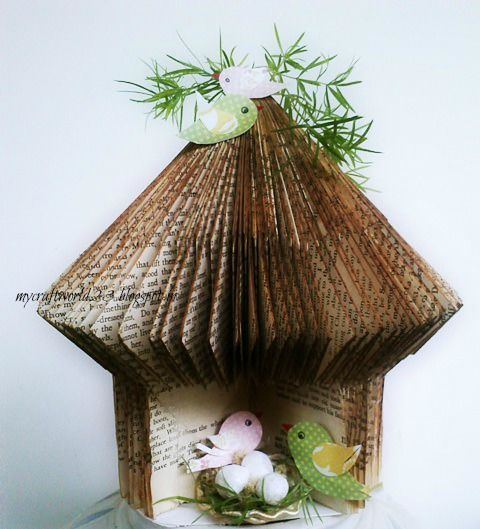 book birdhouse