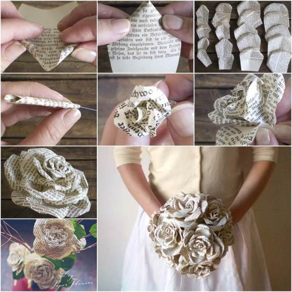 Creative-Ideas-DIY-Paper-Roses-from-Storybook-Pages