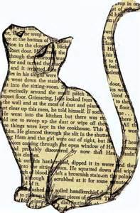 LES CHATS ET LES LIVRES … chats en papier, chatspliés…