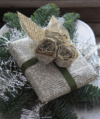 old-book-pages-gift-wrapping