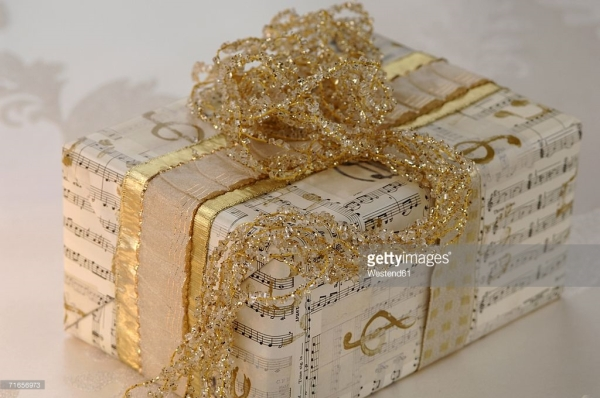wrapped-present-with-ribbon-closeup-picture-id71656973