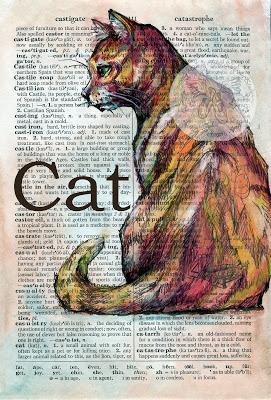 KRISTY PATTERSON, peinture sur dictionnaire….