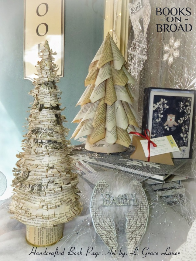 Book-page-art-trees-angel-wing-ornament-christmas-holiday-decor-books-on-broad-Uniquely-grace-lauer-gift-book-lover-club1.jpg